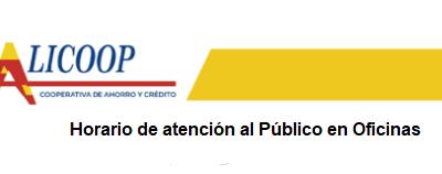 Horario de Atención al público En Oficinas