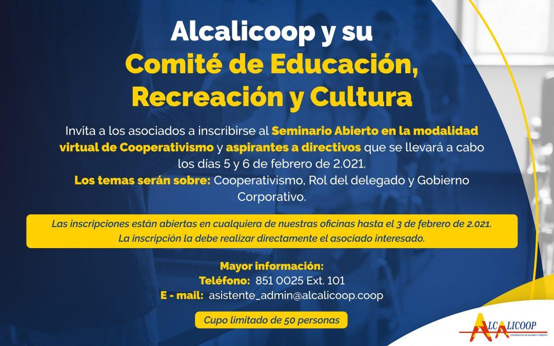 Seminario abierto de cooperativismo y participantes a directivos 2021.